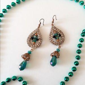 Jewelry - 25% off 💍 B3 Teal beaded Tear Drop Earrings