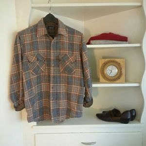 Tops - vintage wool blend flannel boyfriend