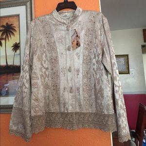 flashback Jackets & Blazers - Beige elegant jacket