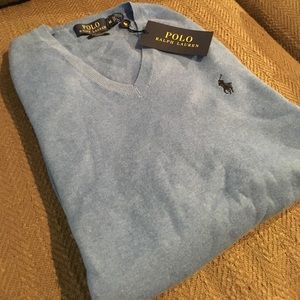 Polo by Ralph Lauren Other - 🆕Ralph Lauren Pima V-Neck Classic Sweater, NWT⚡️
