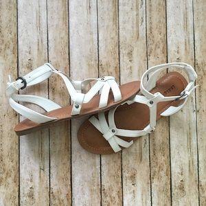 White Gladiator Sandals