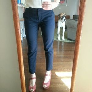 H&M Pants - HM navy ink blue ankle slim trousers