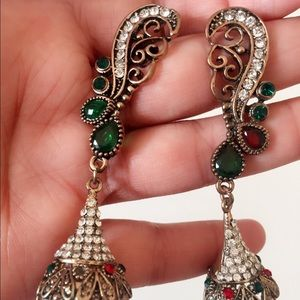 #A54 Antique Style Dangle Earrings