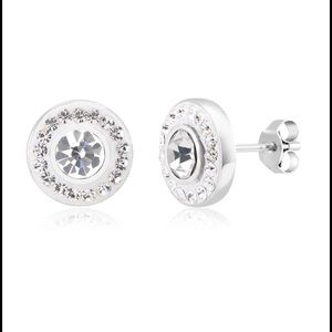 Jewelry - Halo Crystal Stud Earrings