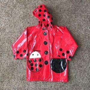 Kidorable Other - Kidorable Red Patent Ladybug Raincoat Slicker 3T