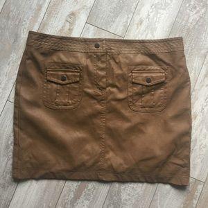 Studio M Dresses & Skirts - Studio M Brown Faux-Leather Lined Mini-Skirt.17161