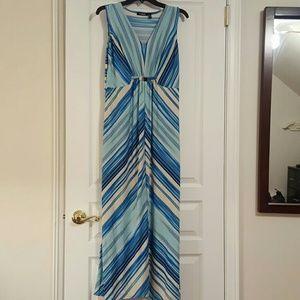 Elementz blue striped maxi