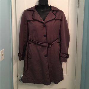 Gallery Jackets & Blazers - Gallery Brown Trench Style Coat