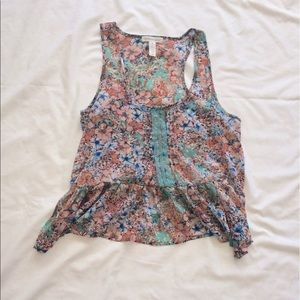 Ambiance Apparel Tops - Ambiance apparel Floral crop top