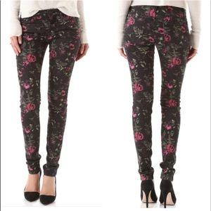 Joe's Jeans Denim - Joe's floral print skinny jeans