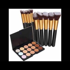 Other - New Concealer Palette And 10pcs Makeup Brushes Set