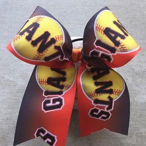 Accessories - Custom Softball Giants Cheer Bow
