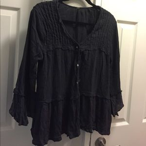 Free people button down shirt blouse
