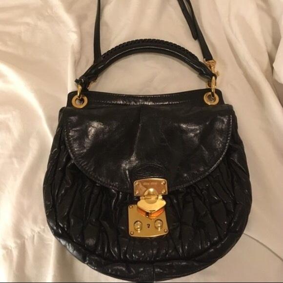 Miu Miu Bags   Vintage Black Purse   Poshmark d2ea1bcaf5