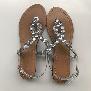 Madeline Stuart Shoes - Silver Studded Sandals