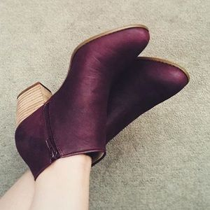Sole Society Burgundy Booties