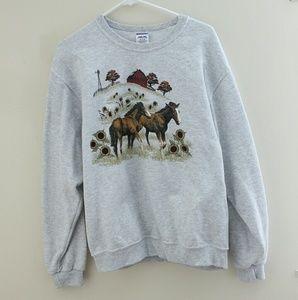 Vintage pullover crew neck sweatshirt