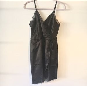 NWT 4 Sienna Black Silky Dress Large