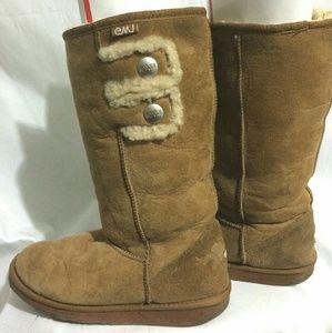 Emu Shoes - EMU Suede Sheepskin Boots Women's Size 8 (Men's 7)