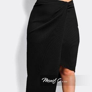 Monif C asymmetrical skirt