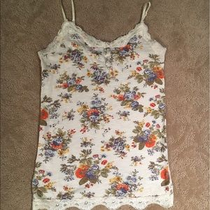 Tops - Floral and Lace Detail Cami