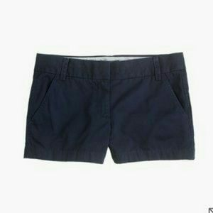 """J. Crew 3"""" Navy Chino Shorts"""