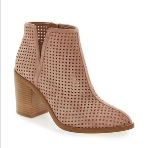 1. STATE Shoes - 1. State perforated booties in blush