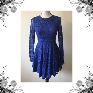 Mustard Seed Dresses & Skirts - NWOT Mustard Seed Blue Lace Dress