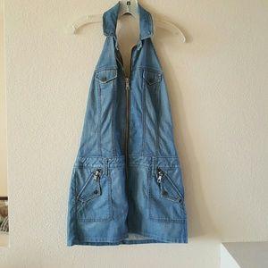 Frankie B. Dresses & Skirts - Frankie B denim halter dress