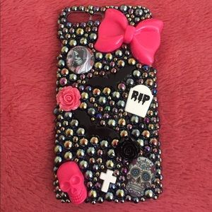Accessories - Bedazzled creepy cute iPhone 7+ phone case