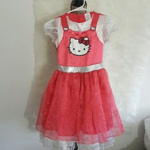 Hello Kitty Other - 2 hr sale Adorable hellokitty tutu dress girls 7-8