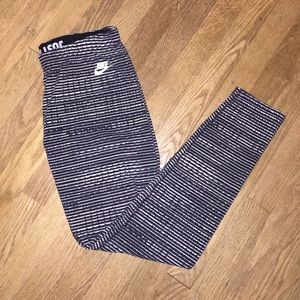 Nike Pants - Nike Leg-A-See Leggings Horizontal Stripe Print