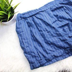 H&M Pants -   NWOT   striped high waist shorts
