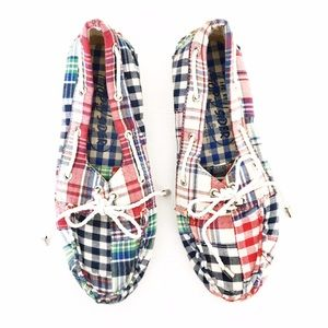 Sperry Top-Sider Shoes - Sperry Topsider Madras Plaid Patchwork Boat Shoes