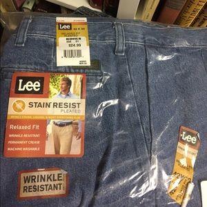 577de6e2 Lee Jeans | Mens Stain Resistant Pleated Denim Nwt | Poshmark