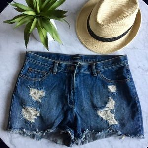 I ❤️ Ronson Distressed Cut Off Shorts
