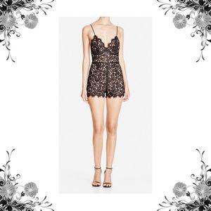 Bardot Pants - Sz 6 & 8 Bardot Black Lace Illusion Romper