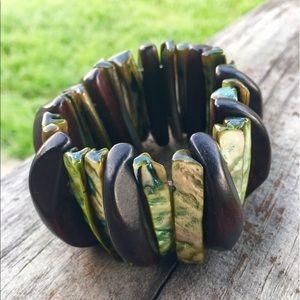 Jewelry - Gorgeous Earth Bound Stretch Paua Abolone Bracelet