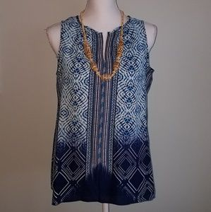 Rose & Olive Blue Tank Size M NWT