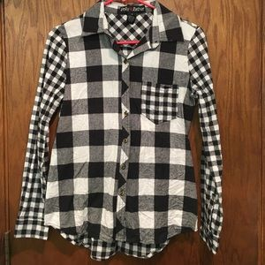 Polly & Esther Tops - Flannel Blouse