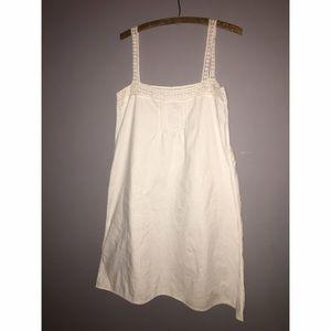 Lauren Ralph Lauren Dresses & Skirts - Lauren Ralph Lauren White Linen Cotton Dress Sz L