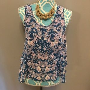 Frenchi Tops - Nordstrom BP Frenchi Floral Blouse Tank Medium