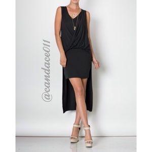 CC Boutique  Dresses & Skirts - Hi-Lo Bodycon Mini Dress (Coal Black)