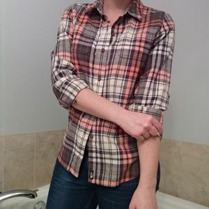 The North Face plaid flannel button down