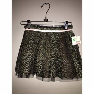 NEW with tags Leopard Tutu Skirt  Sz 5T