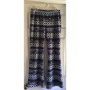 ASHLEY BLUE Pants - Boho wide leg long flared bell palazzo pant