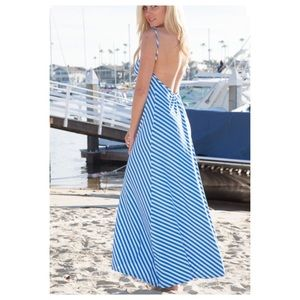 Light Blue & White Maxi Dress Last of Each Size!