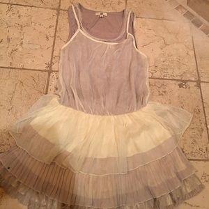 Ya los Angeles Dresses & Skirts - Sleeveless drop waist lined three tone dress