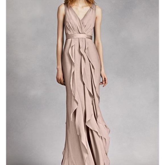 a9e3ffb4a7d5 Vera Wang Dresses   Bridesmaid V Neck Wrapped Bodice Dress   Poshmark