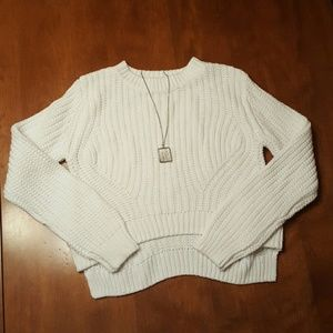 H&M Other - H & M girls white or pink cropped sweater hi lo